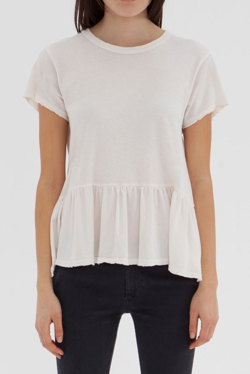 The Great. The Ruffle Tee Tops
