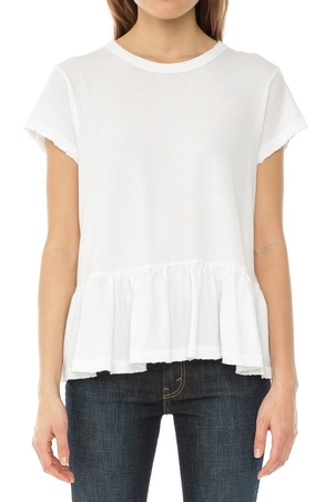 The Great White Ruffle Tee Tops