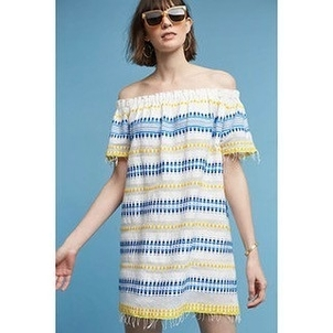 Lemlem Tabtab Off Shoulder Dress Dresses
