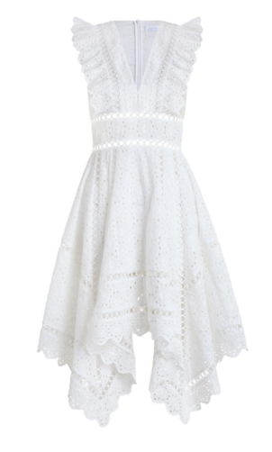Divinity Wheel Day Dress in Ivory