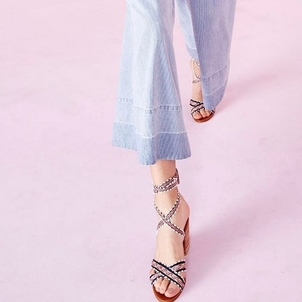 Ulla Johnson Wrap Up Block Heel Shoes