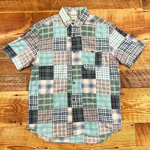 Faherty Brand Faherty Patchwork Madras Party Shirt Tops