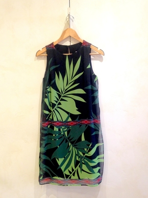 Joseph Ribkoff Palm Leaf Chiffon Dress Dresses