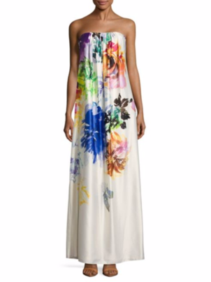 Nicole Miller Floral Maxi Dress Dresses Skirts