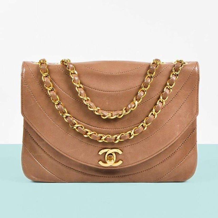 Chanel Vintage Curved Quilted Flap Bag