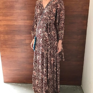 Natalie Martin Wrap Maxi Dress Dresses