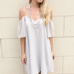 French Connection All White Dresses Jewelry