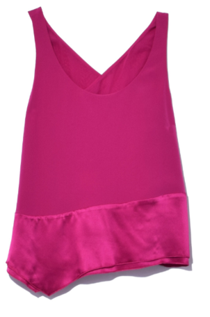 3.1 Phillip Lim Double Layer Tank in Rose Pink Sale Tops
